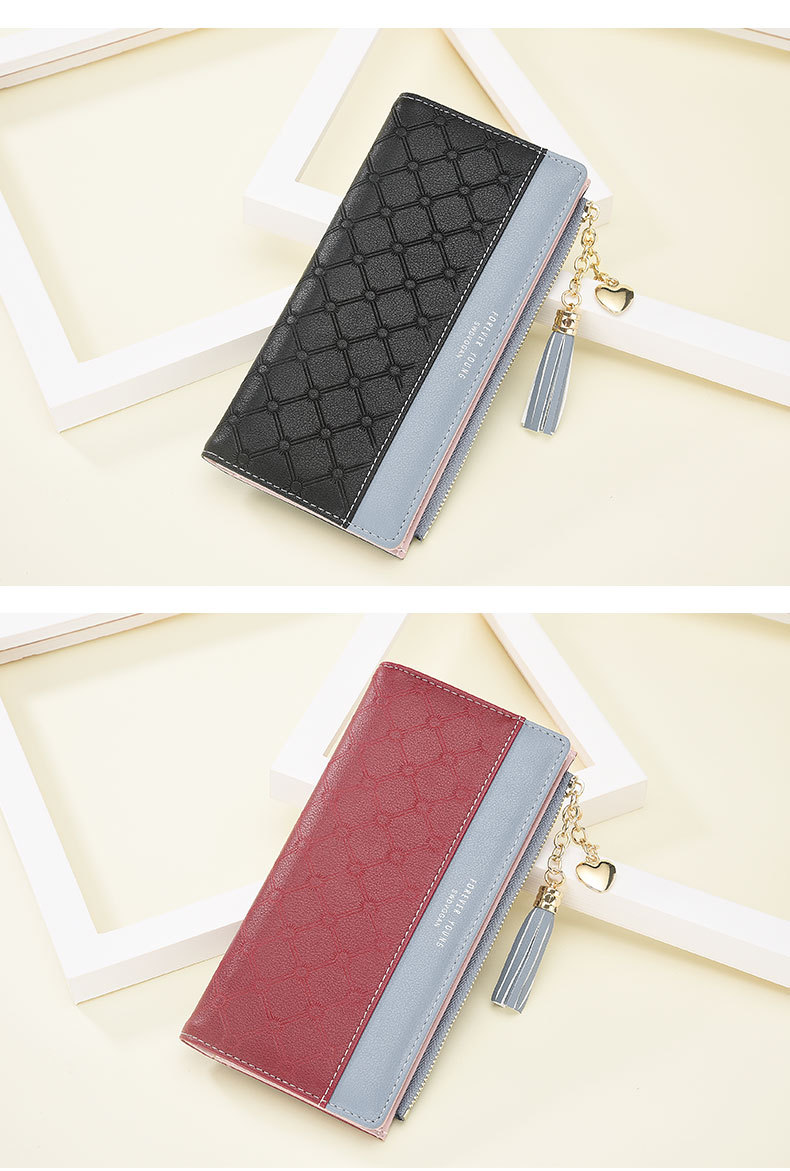 2018 Fashion Ladies Wallet Female Short Zipper Coin Purse Small Wallets Young Womens Tassel Hasp Purses Button Card Holder Pouch 102