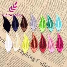 Lucia Crafts 16*45mm Natural Velvet imitation leather feathers  garment accessories 008006003
