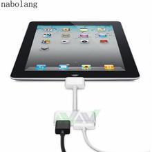 Nabolang 1pcs 1080P Dock Connector to HDMI HD TV Adapter for iPad 2 3 for iPhone 4 4S for iPod IOS 8.3(China)