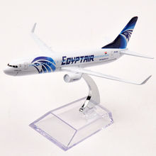 16cm Egypt Airline Boeing 737-800 SU-GCS EGYPT AIR Alloy Metal Passenger Plane Model Aircraft Diecast Collection