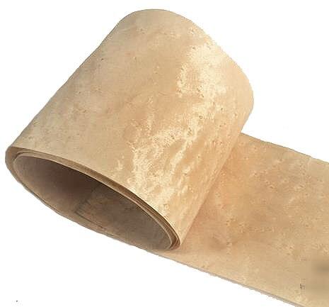 L:2.5Meters/pcs    Wide:200mm Thickness:0.2mm Natural Maple bird eye veneer  Solid wood Speaker skinning<br>