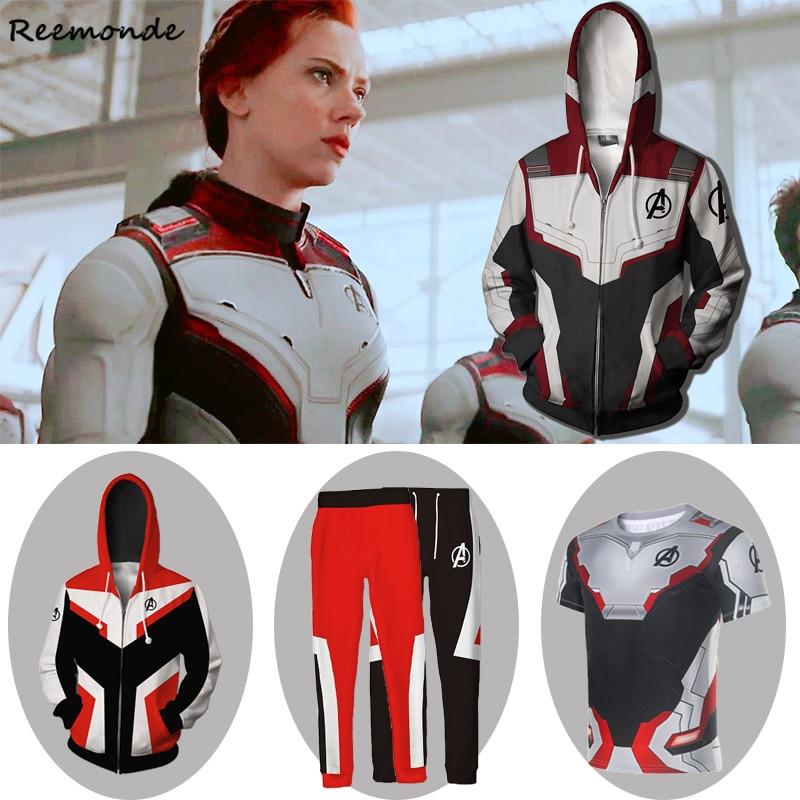 Advanced Tech Hoodie Pants Sets Avengers Endgame Quantum Realm Sweatshirt Jacket