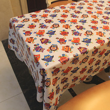 PVC Party Table Cloth Plastic Waterproof Oilproof Toalhas De Mesa rectangle Tablecloth owl Printed Nappe Table Cover Overlay