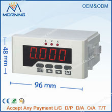 DUI51 Frame Size 96*48mm Single Phase DC Data Retention LED Digital Display Current Voltage Combination Meter, Can With RS485