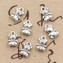 99Cents 12pcs Charms teddy bear 11*7mm Antique Making pendant fit,Vintage Tibetan Silver,DIY bracelet necklace