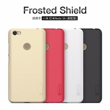 Original Nillkin Super Frosted Shield Hard Back PC Cover Case For XIAOMI RedMi Note 5A Prime Phone Case + Screen Protector