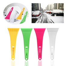 1PC Universal Retractable Auto Car Windshield Ice Frost Snow Window Scraper Brush Colorful Winter Cleaning Removal Hand Tool(China)