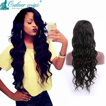 Hotsale loose wave soft virgin brazilian hair silk top full lace wig & silk top front lace wig natural scalp color
