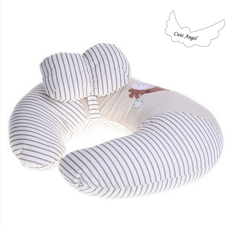 Best Baby Nursing Pillow Ins Hot 100%Cotton U-Shape Multi-functional Nursing Pillow Soft Comfortable Infant Breastfeeding Pillow<br>
