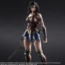 Play Arts KAI Batman v Superman Dawn of Justice No.4 Wonder Woman PVC Action Figure Collectible Model Toy 26cm(China)
