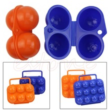 F85 Hot Portable Carry 2/6/12 Eggs Container Holder Storage Box Case Folding Plastic(China)
