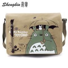 Anime Series Messenger Bag Naruto Totoro Canvas Bag Attack on Titan Shoulderbag Tokyo Ghoul Inclinedbags Sling Pack Cosplay
