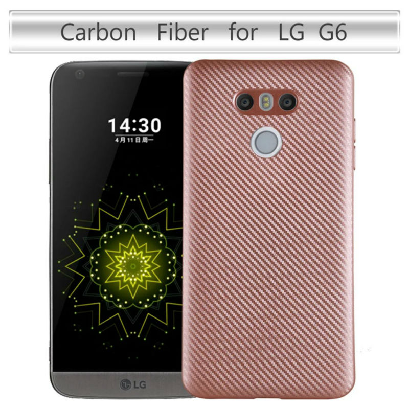 Cover For LG G6 Case For LG G6 Case Carbon Fibre Brushed TPU Smart Phone Cases For LG G6 Phone Bag(China (Mainland))