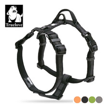 Truelove Neoprene Padded Dog Pet Body Harness With Handle Strap Security Belt Dog Chest Collar Pet Shop Dog Acessorios Dropship(China)