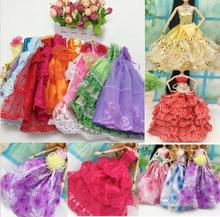 10 Pcs Party Wedding Dress Princess Gown Dress Clothes Gown For Barbie doll
