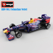 1 43 brand Scale child's metal diecast F1 Infiniti RB9 No.1 Sebastian Vettel red bull racing cars 2013 Hungry Heidi model toys(China)