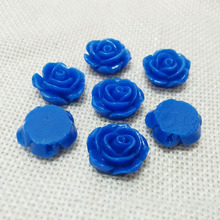 have hole flowers cabochons cameo flat back beads rose broonches earrings brincos making resin pendants slide charms jewelry diy(China)