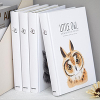 A5 Cute Little Owl Series Hardcover Blank Notebook Office School Stationery Bullet Journal Student Daily Noted Planner Diary