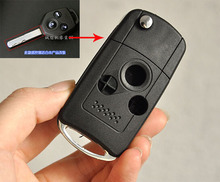 3 Buttons Modified Folding Flip Remote Key Shell for Subaru Forester Legacy Car Key Blanks Case