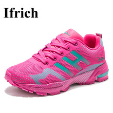 Ifrich 2017 Summer Sport Shoes Woman Runnig Sneakers Black Red Women Walking Sneakers Luxury Brand Athletic Shoes Cheap Trainers