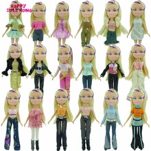 5x Random Handmade Fashion Lady Daily Wear Blouse & Trousers Outfit Casual Clother For Bratz Kidz Doll Gifts Baby Toys