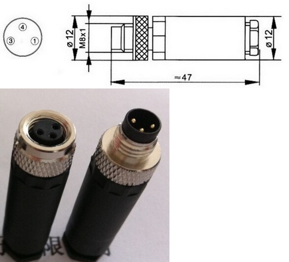Aviation Plug Socket Male &amp; Female Wire Panel Connector Adapters Adaptor M8 12mm 3 Pin GX12-3 Connectors<br><br>Aliexpress