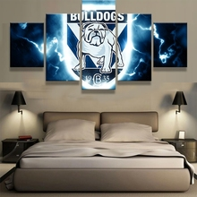 Canvas Painting Wall Art Frame Abstract Decor 5 Pieces Bulldogs Sports Football Pictures For Living Room Bedroom Prints PENGDA