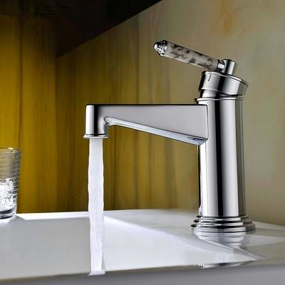 2016 Hotsales Solid Brass Construction Chrome Finished Patent Design Bathroom Faucet Mixer Tap with ceramic handle<br><br>Aliexpress