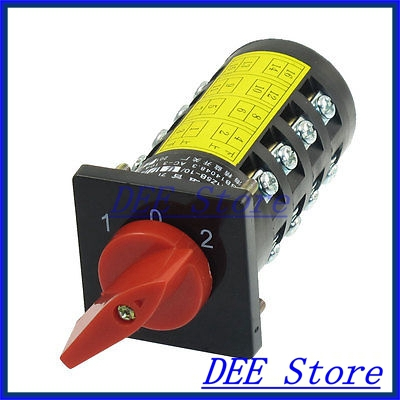 AC 380V 3KW Ui 380V Ith 10A 3 Position Rotary Cam Changeover Switch<br><br>Aliexpress