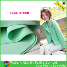 New Arrival Excellent Material Spandex Stretch Drapery Aqua Green Neoprene Fabric Wholesale(China)