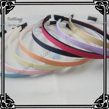 Wholesale 6MM wide plastic head band covered ribbon grosgrain 50pcs/lot with teeth(China)