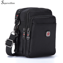 Soperwillton Men's Bag Messenger Bags Crossbody For Male Wateproof High Quality Oxford 1680D Solid Zipper Bag Solid N1052(China)