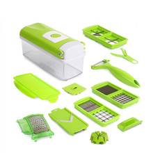 12 In 1 Multi-Purpose Fruit Vegetable Tools Slicer Cutter Peeler Dincer Kitchen Accessories Cooking Tools(China)