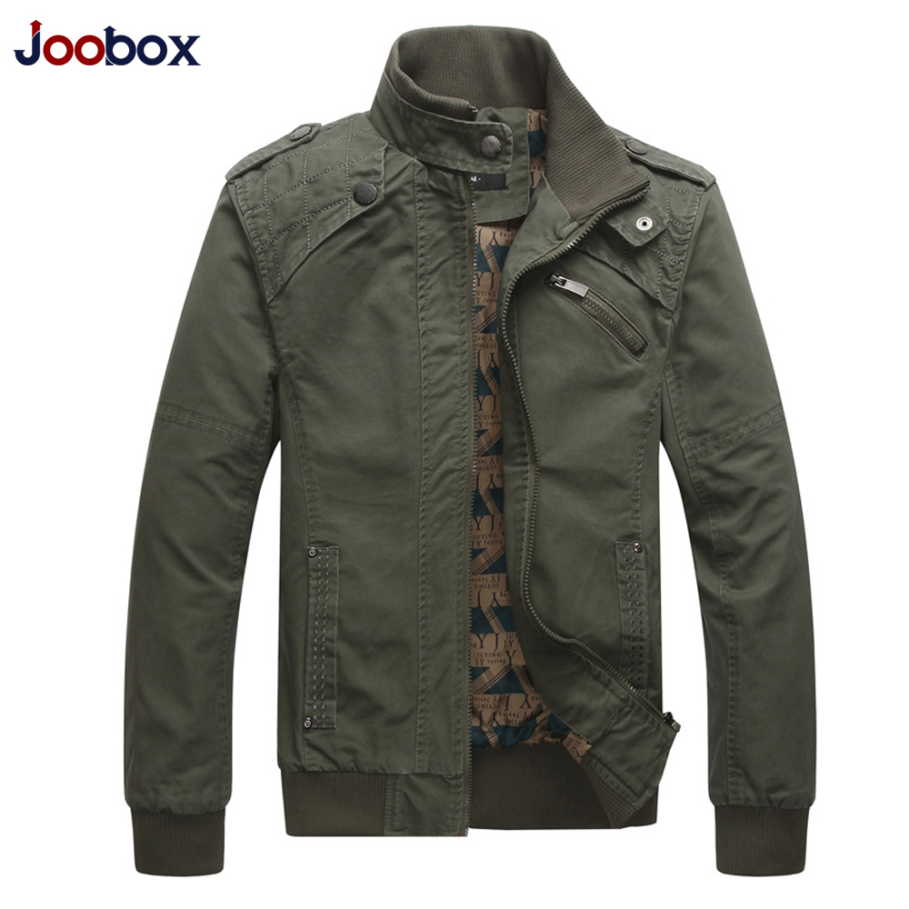 JOOBOX 2017 New Autumn & Winter Cotton Jackets Coats Men Stand Collar Military Mens Jacket Fashion Casual Outerwear Homme