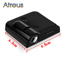 Atreus Car Door Welcome Lights For Ford Fiesta Mondeo Toyota RAV4 Lexus Mazda 3 Renault accessories 2X Logo projector LED Lamp(China)