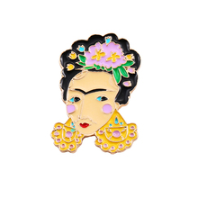 Fashion jewelry 2017 new drop enamel fashion lady self-portrait texture brooch pin accessories wholesale(China)