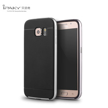 iPaky BRAND Top A Quality Case for Samsung Galaxy S6 Hard PC Frame+Silicone Texture Material Protective 2 in1 Back Cover Shell