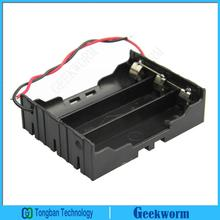 DIY 3-Slot Parallel 18650 Battery Holder Battery Case Storage Box with 2 Wire Leads for 3*18650 (3pieces/lot)
