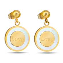 Wedding Jewelry Women Earrings Bijoux Gold Plate Stainless Steel Shell Earrings