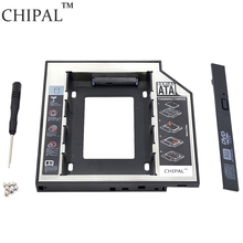 "CHIPAL 10PCS Second HDD Caddy 12.7mm SATA 3.0 for 2.5"" SSD Case Hard Disk Enclosure with LED Indicator for Notebook ODD DVD-ROM"