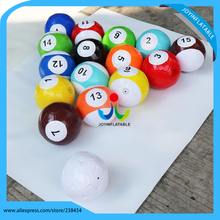 free shipping dia 18cm 16 pieces Giant Inflatable Snooker Soccer Ball in Snookball Game,Huge Billiards Balls