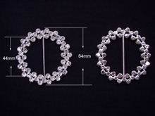 (S0022) 44mm cluster ribbon slider with for wedding chair,silver plating(China)