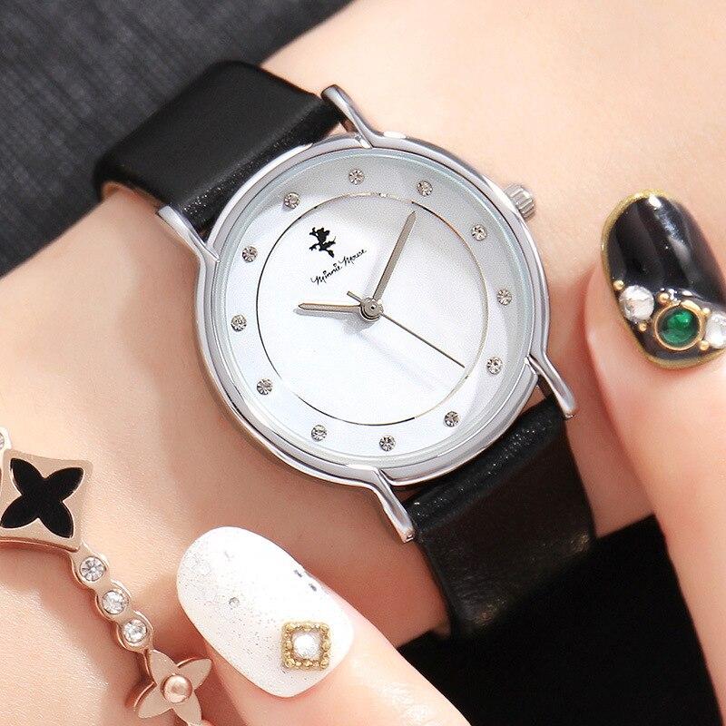 DISNEY Fashion Women Watches Top Brand Luxury Leather Quartz Wrist Watches for Woman Ladies Watch Female Clock montre femme<br>