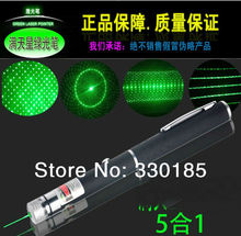 Retail and Wholesale  Green Laser Pointers 5 in1 500mW 532nm Fat Beam adjust Green Laser Pointer,Green Laser Pen with Multi-star