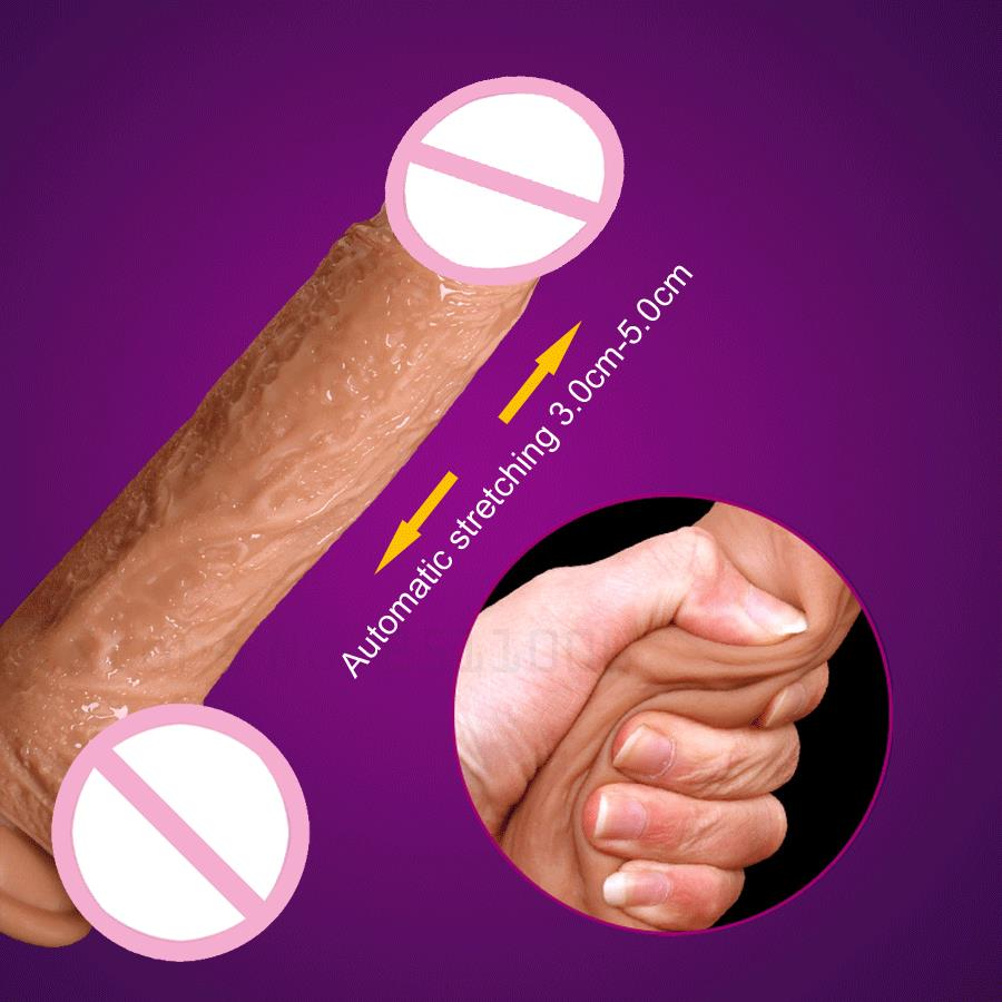 New Automatic Telescopic dildo realistic suction cup dildo Skin feeling Realistic Penis big dick sex toys vibrators for women<br>