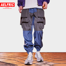 Aelfric Eden Multi-pockets Harem Joggers Men 2018 Autumn Sportswear Casual Pants