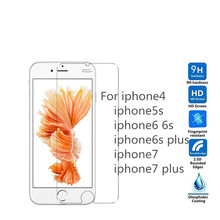 2.5D Screen protection Toughened glass For iphone7 7plus 6s plus 6s 5 5s 5se 4s 9H Anti-Explosion Screen protection Flim