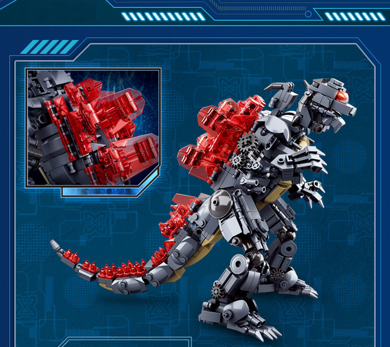 Sluban M38-B0783/B0785/B0786 King of The Monsters Godzilla Ghidorah Rodan Building Blocks 21
