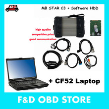 mb star c3 for Mercede Benz CF52 diagnostic computer 4G used High Quality For Panasonic Toughbook CF-52 laptop with V2015.07 HDD