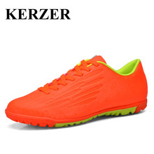 Hot Indoor Soccer Shoes For Men Kids Football Cleats Cheap Turf Soccer Cleats Leather Training Sneakers Gray/Blue Cleats Men